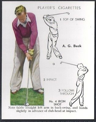 Players Overseas Issue-Golf (L25)-#03- No 4 Iron Shot - Beck