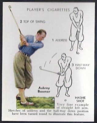 Players Overseas Issue-Golf (L25)-#04- Mashie Shot - Aubrey Boomer