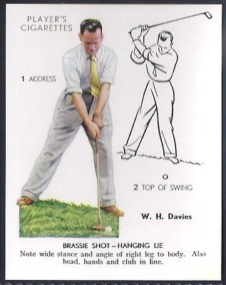 Players Overseas Issue-Golf (L25)-#12- Brassie Shot Hanging Lie - Davies
