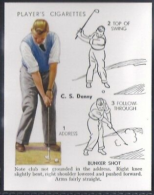 Players Overseas Issue-Golf (L25)-#13- Bunker Shot - Denny