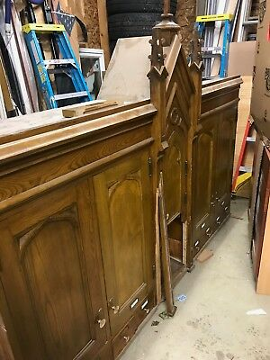 Antique chestnut cabinets from church sacristy