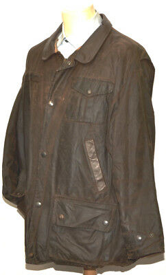Great Men's Barbour A1550 Bushman Wax Jacket Extra Large Brown