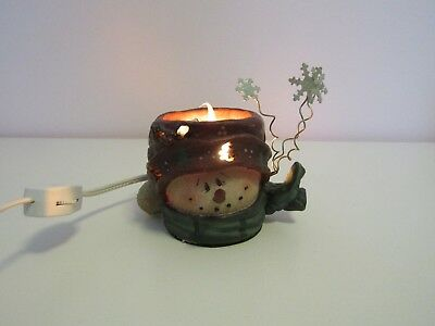 Crazy Mountain Electric Smowman Winter Christmas Candle Light