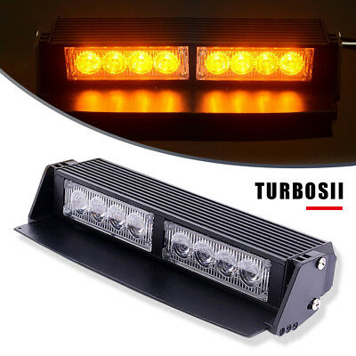 8 LED Traffic Advisor Emergency Hazard Flash Mini Interior Strobe Light,YELLOW