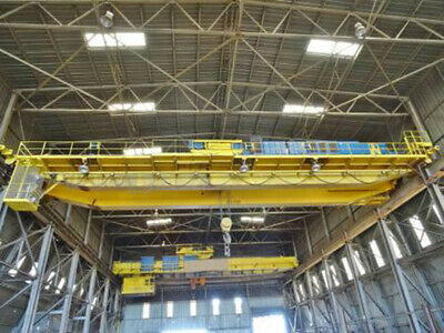 60 Ton x 97' P & H Double Girder Top Riding Overhead Bridge Crane