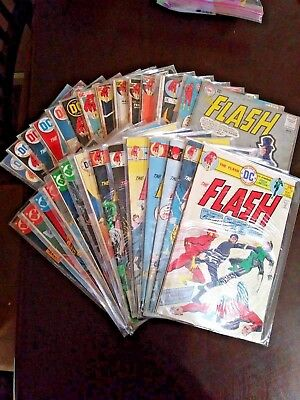 The Flash Vol. 1 Lot of 28 Bronze and Silver Age Comics