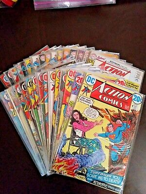 Action Comics Lot of 32 Bronze and Silver Age Comics