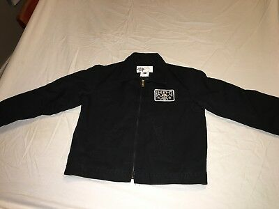 Dickies Lucky 13 Hot Rod Black Jacket Youth Medium Quilted Lining Great Cond!