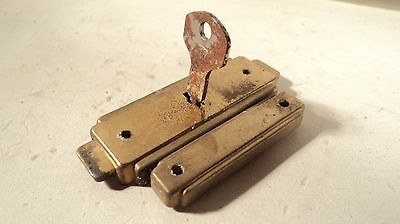 Vintage Brass Plated Metal case latch lock attachecase NOS