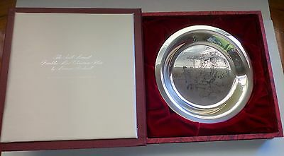 """SOLID STERLING SILVER 1975 Norman Rockwell """"HOME FOR CHRISTMAS"""" PLATE"""