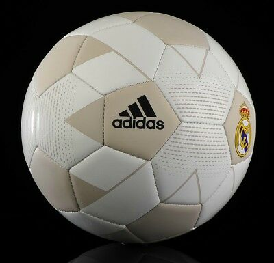 b0548c13d adidas REAL MADRID BALL - CREAM WHITE   GREY REAL MADRID FOOTBALL - SIZE 5