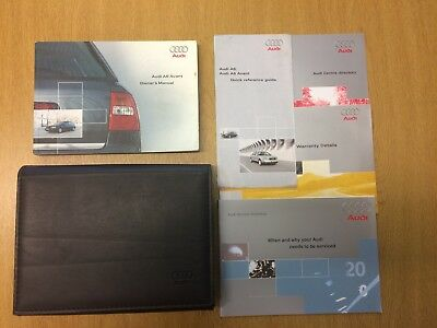 Audi A6 Avant C5 Owners Manual Handbook Unused Service Book 2001-2004 Edition