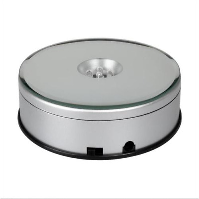 10CM LED 3D Photo Shop Display Turntable 360 Rotating Base Stand Turn table NEW