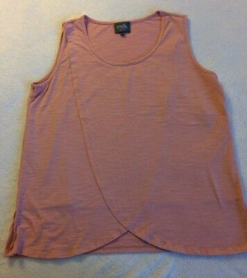 Milk Nursingwear tank top pink cotton drape opening Size Large