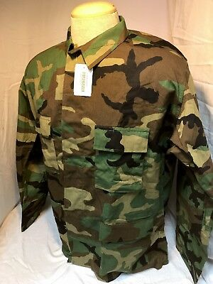 Us Army Woodland Bdu Blouse Coat Twill Cold Weather Size Xl X-Large Regular Nwt