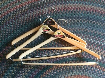 Vintage Wood Suit Hangers~Advertising~NM