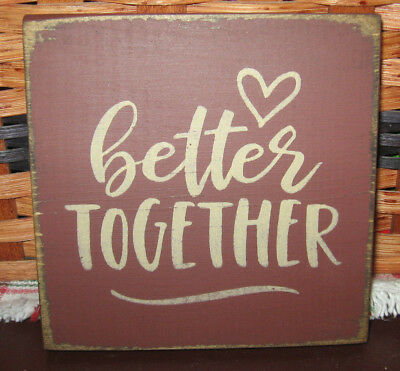 PRIMITIVE  COUNTRY BETTER TOGETHER  mini  sq   SIGN