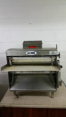 ACME MRS20 Stainless Steel Commercial Bench Top Dough Roller Tested 115 Volt