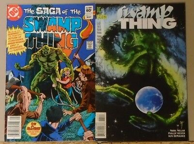Saga of the Swamp Thing #1 (1982) and Swamp Thing #171 (1996) 1st & last issues