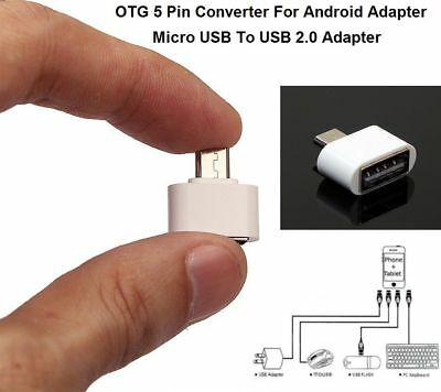 New Micro USB to OTG USB 2.0 Connector Adapter For S5 S6 S7 Edge+ White