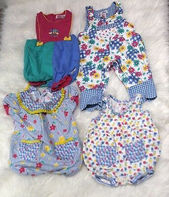 Vintage Gymboree Lot Of 4 One Piece Outfits Size Newborn And Infant Rompers  B