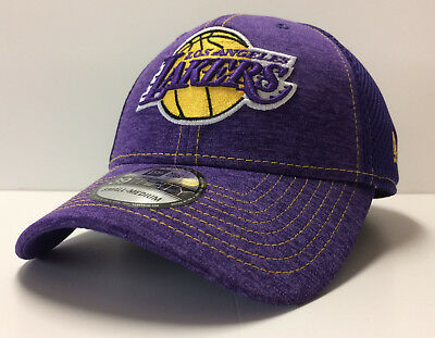 c51685e3287 Los Angeles Lakers LA New Era NBA 39THIRTY Shade Neo Mesh Stretch Flex Cap  Hat