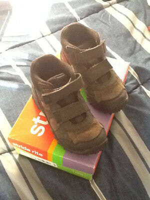 Boys Stride Rite® Rugged Ritchie 2 Dark Brown Leather Boots size 13.5 M
