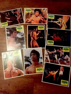 Bruce Lee Lobby Cards from Yugoslavia- Rare- JKD - Game of Death - 10 pieces