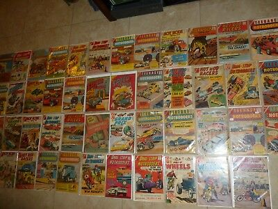 Hot Rod  Dragster racing 1960s comics silver age rare mostly Charleston comics