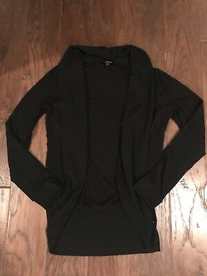 maternity black long sleeve cardigan small size