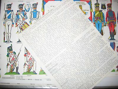 documents soldats napoleon uniformes