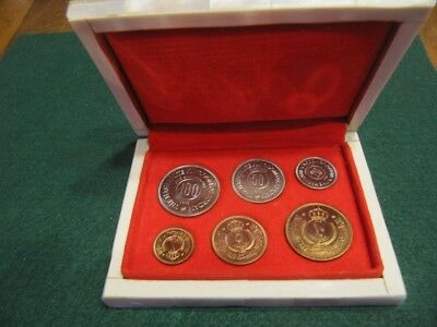 Kingdom Of Jordan 1965 6 Coin Proof Set In Original Mother Of Pearl Box