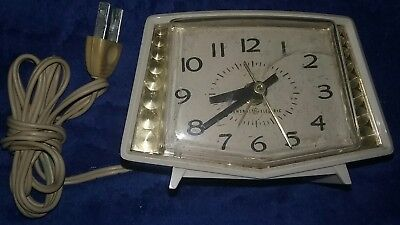 Vintage General Electric Dial Alarm Clock Ge Model 7281 Works