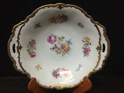 Stunning REICHENBACH Gold and White Floral Ornate Bowl - Free Shipping