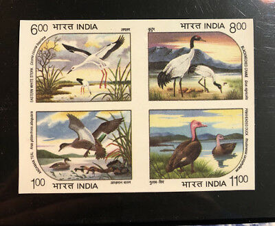 India: 1994 Waterbird Imperf. Block .  Rare &  Mnh Condition .