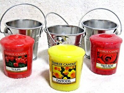 Valentine Day Gift Yankee Candle TULIPS DAFFODIL ROSES votives & Votive Holders