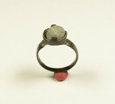 Stunning Medieval Period Ring With Stone In Bezel - Wearable