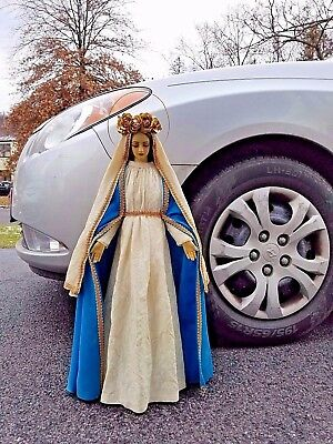 LARGE Vintage Virgin Mary Our Lady of Grace Catholic Religious Statue 24 1/2 IN