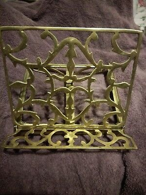 VTG/Antique SOLID BRASS SHEET MUSIC and/or BOOK STAND Collapsible DESKTOP-STYLE