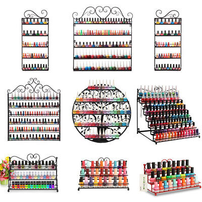 Variety Of Wall Mounted Nail Polish Display Rack Holder Organizer Varnish Metal