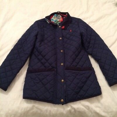 Girls Navy Blue Padded Coat Jacket By Joules Age 11-12 yrs Horse Riding Style