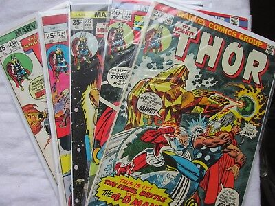 THOR 5 issue Lot  (1973-1975) 216 219 232 234 235 average Fine