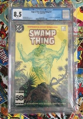 SWAMP THING 37 CGC 8.5 1st Constantine Graded Saga Of White Pages — Not PGX CBCS