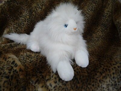 Mervyns Floppy Friends Plush White Long Hair Persian CAT ~ Large