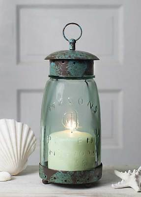 New French Country Cottage Chic MASON JAR LANTERN Candle Holder Shabby Rustic