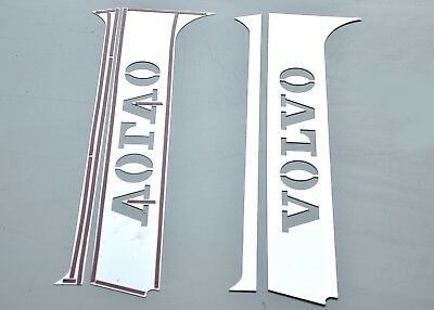 Volvo FH4 2013-Present Door PILLAR Super Polished Stainless Steel 4 Pcs