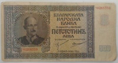 Bulgaria 500 Liva 1952  King Boris III #KCS