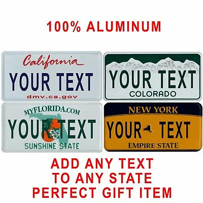 ANY State ANY Text 100% Aluminum Custom United States Novelty License Plate Gift