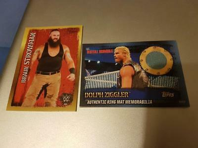 TOPPS SLAM ATTAX 10th EDITION COLLECTOR CARD STROWMAN & DOLPH ZIGGLER RING MAT