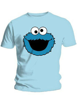 e147f3f4fc73a Cookie Monster Cookies Official Sesame Street Light Blue Mens T-shirt
